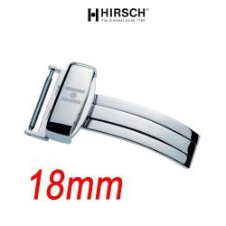 Hirsch Boucle déployante 18mm SPORT inox poli hypoallergénique