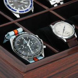 Coffret 10 montres vitré Makassar Style GENEVA