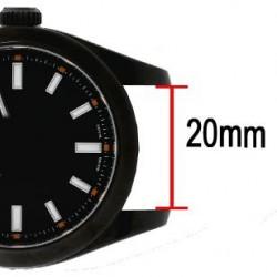 Bracelet NATO 20mm rayures fines marron vert rouge