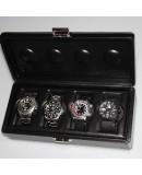 Coffret 4 Montres - Scatola 4B XL Oversize cuir noir